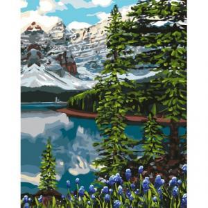 Фото Наборы для вышивания, Вышивка крестом с нанесенной схемой на конву, Пейзаж KH 2748  Единение мечты Картина  по номерам на холсте 40х50см