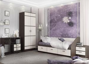 Кровать Аленка 0,8м венге/белфорт (ДСВ)