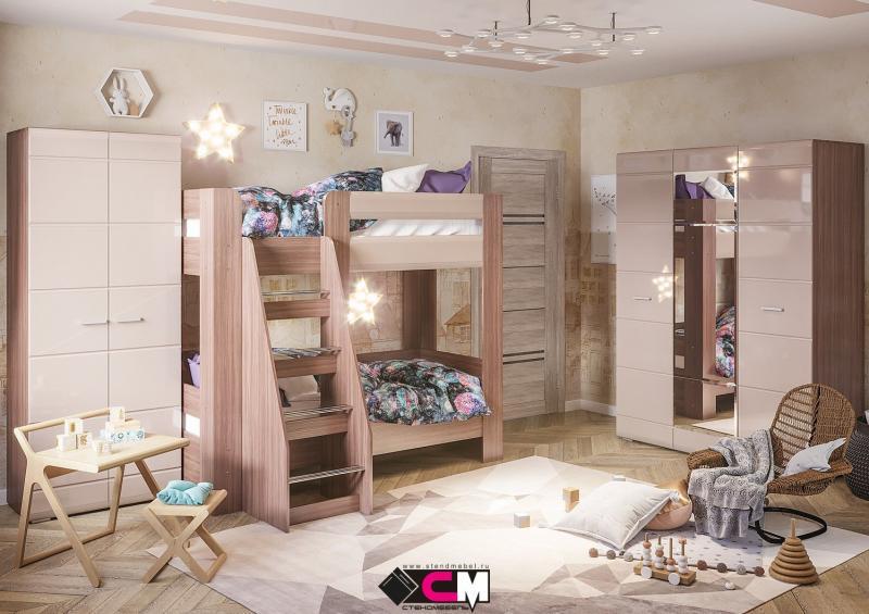 Фото Детская мебель, Детские кровати Кровать двухъярусная Симба (Стендмебель)