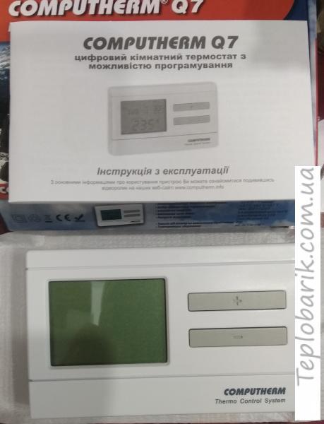 Фото Терморегуляторы для инкубаторов, Терморегуляторы для котлов Computerm Q7 Программируемый комнатный термостат. Беспроводной Терморегулятор.