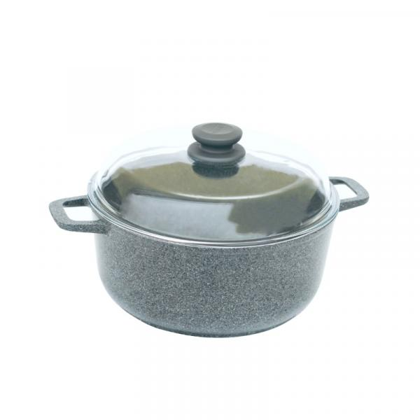 Кастрюля БИОЛ Granite Gray c крышкой 5 л (K504PC)