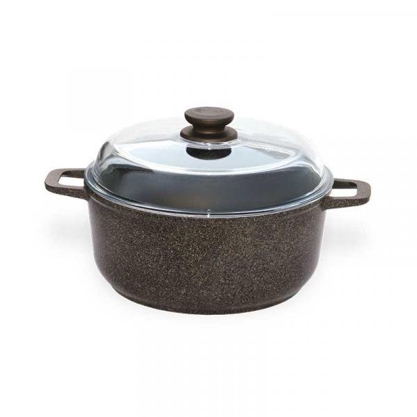 Кастрюля БИОЛ Granite Brown c крышкой 5 л (K503PC)