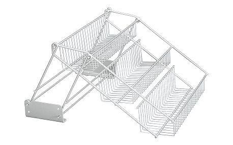 Полка METALTEX Up-Down 33х28х21 см серый металлик покрытие Polytherm (365011)