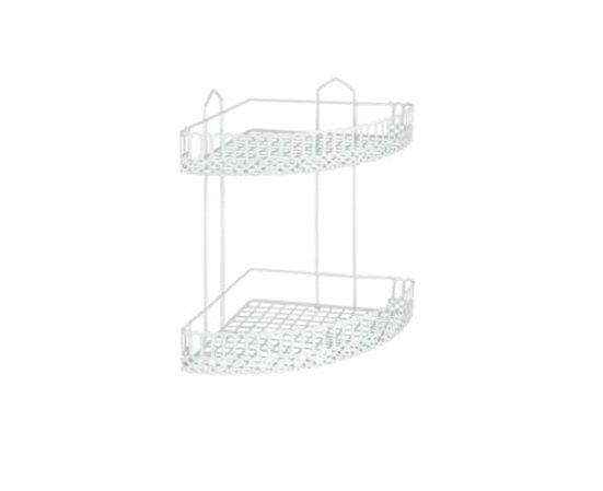 Полка Metaltex Rialto для ванной 25х25х35 см белое пластиковое покрытие (453702)
