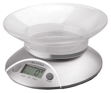 Весы кухонные серебряные Maxwell (MW-1451)