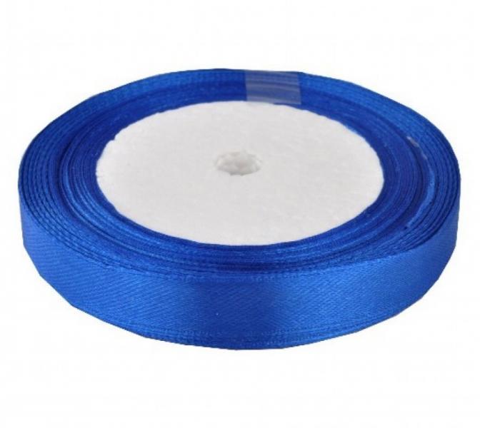 Фото Ленты, Лента атласная  однотонная 0,6-12мм Лента  атласная  12 мм,  цвет  Синий ( 040 )   Бобина  22,8  метра.