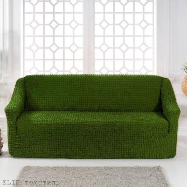 Фото Чехлы для мягкой мебели, Чехол для прямого дивана Чехол для прямого дивана без юбки (зеленый)