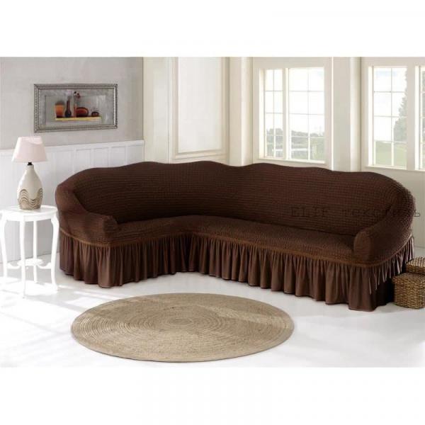 Фото Чехлы для мягкой мебели, Чехол для углового дивана Чехол для углового дивана (коричневый)
