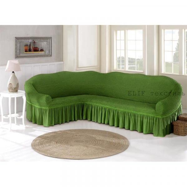 Фото Чехлы для мягкой мебели, Чехол для углового дивана чехол для углового дивана (зеленый)