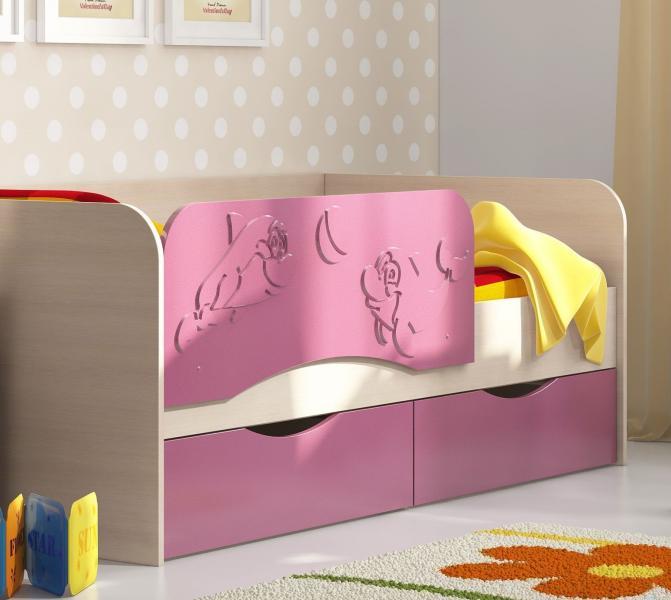 Фото Детская мебель, Детские кровати Кровать Дельфин 1,6м (Рикко)