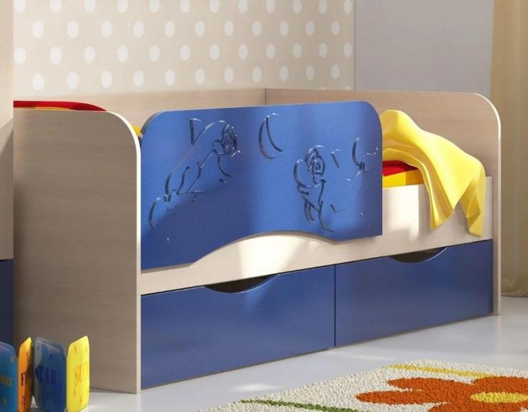 Фото Детская мебель, Детские кровати Кровать Дельфин 1,8м (Рикко)