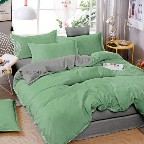 Фото Постельное белье Комплект постельного белья (Диколор зелёный)