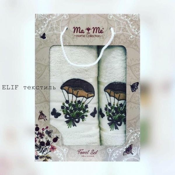 Набор махровых полотенец Ma Me 2в1 (Белый)