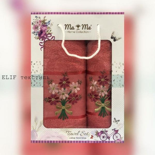 Набор махровых полотенец Ma Me 2в1 (Красный)
