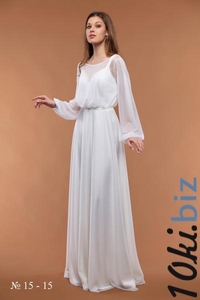 Свадебные платья - Легкое блестящее свадебное платье 15-15