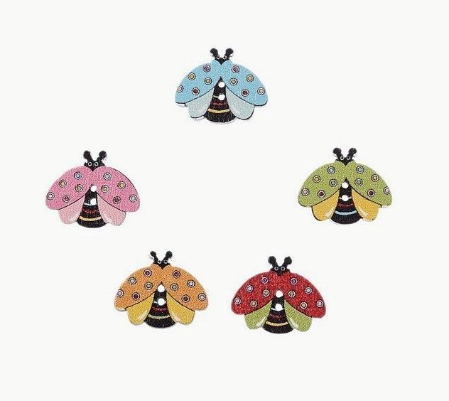 Фото Серединки ,кабашоны, Кабашоны детские мультики Пчёлки  деревяные ,  пришивные  20 * 17 мм.  Упаковка  10 шт .  ( 5 цветов  по  2 шт. )