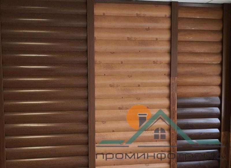 Фото Металлический сайдинг / Сайдинг ПВХ, Металлический сайдинг Блок_Хаус / Доска Металлический сайдинг Блок-Хаус с микрорибером, все цвета в ассортименте