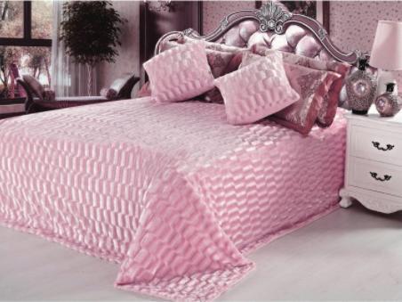 Плед норка розовый            размер: 220х240 см