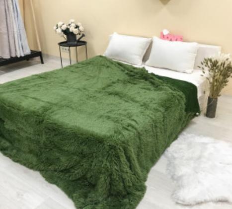 Плед травка зеленый            размер: 220х240 см