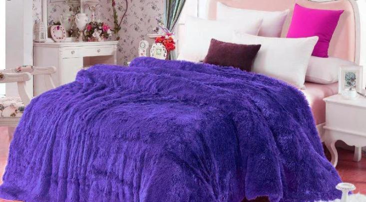 Плед травка фиолетовый            размер: 220х240 см