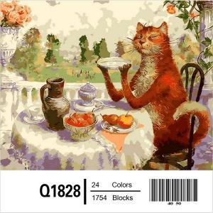 Фото Картины на холсте по номерам, Животные. Птицы. Рыбы... Q1828 Роспись по номерам 40х50см