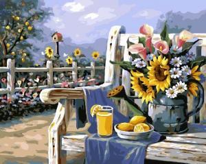 Фото Картины на холсте по номерам, Картины  в пакете (без коробки) 50х40см; 40х40см; 40х30см, Цветы, букеты, натюрморты GX 4660