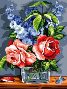 Фото Картины на холсте по номерам, Букеты, Цветы, Натюрморты VK 075