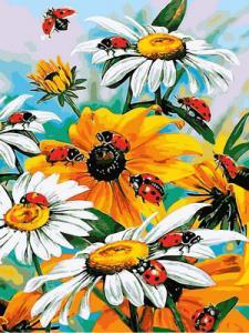 Фото Картины на холсте по номерам, Букеты, Цветы, Натюрморты VK 080