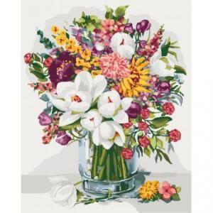 Фото Картины на холсте по номерам, Картины  в пакете (без коробки) 50х40см; 40х40см; 40х30см, Цветы, букеты, натюрморты KHO 3018