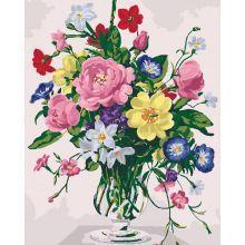 Фото Картины на холсте по номерам, Картины  в пакете (без коробки) 50х40см; 40х40см; 40х30см, Цветы, букеты, натюрморты KHO 3021
