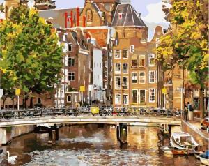 Фото Картины на холсте по номерам, Городской пейзаж GX 21691