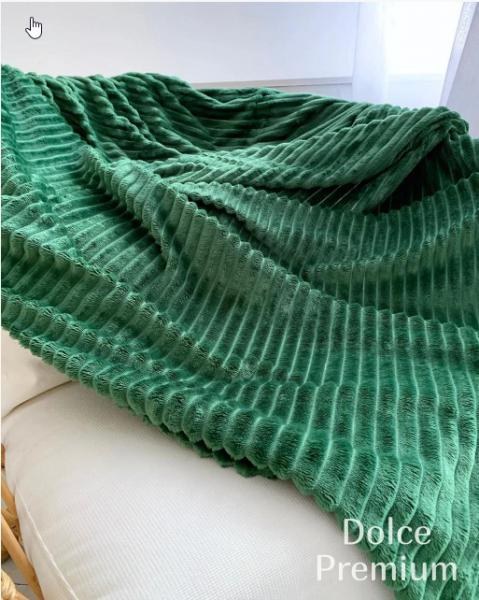 Плед шарпей зеленый            размер: 200х220 см