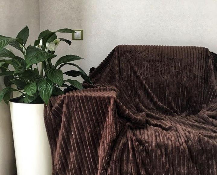 Плед шарпей шоколад            размер: 200х220 см