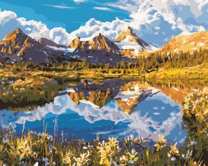 Фото Наборы для вышивания, Вышивка крестом с нанесенной схемой на конву, Пейзаж AS 0540 Дикая природа Картина по номерам на холсте ART STORY 40x50см
