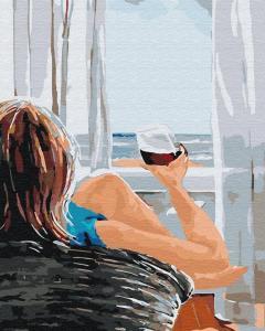 Фото Картины на холсте по номерам, Романтические картины. Люди KGX 30469 Утро на берегу Картина по номерам 40х50см
