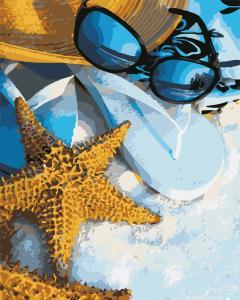 Фото Картины на холсте по номерам, Морской пейзаж AS 0584 Летний отпуск Картина по номерам на холсте Art Story 40x50см
