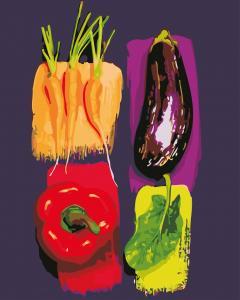 Фото Картины на холсте по номерам, Букеты, Цветы, Натюрморты AS 0638 Яркие овощи Картина по номерам на холсте Art Story 40x50см