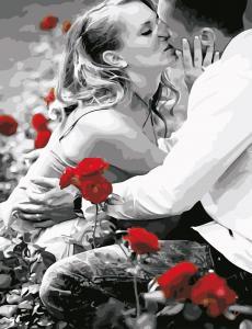 Фото Картины на холсте по номерам, Картины по номерам 50х65см AS 0616 Искренний поцелуй Картина по номерам на холсте ART STORY 50x65см