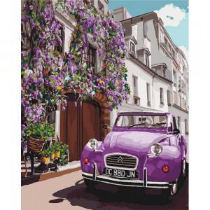 Фото Картины на холсте по номерам, Городской пейзаж KHO 3556 Волшебный Париж  Роспись по номерам на холсте (без коробки) 40х50см
