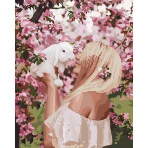 Фото Картины на холсте по номерам, Романтические картины. Люди KH 4616 Весенняя нежность Роспись по номерам на холсте 50х40см в коробке