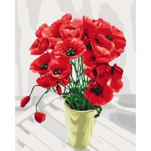 Фото Картины на холсте по номерам, Букеты, Цветы, Натюрморты KH 3065 Букет для мамы Роспись по номерам на холсте 40х50см