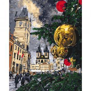 Фото Картины на холсте по номерам, Зима! Новый Год! Рождество! KH 3562 Рождественские каникулы Роспись по номерам на холсте. 40х50см