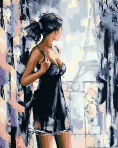 Фото Картины на холсте по номерам, Романтические картины. Люди VP 1173 Вид на Париж Роспись по номерам на холсте. 40х50см