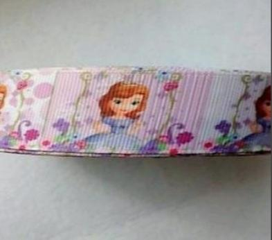 Фото Ленты, Репсовая  и  тканевая  лента  VIP класса. Лента репсовая с принцессой Софией. Ширина 2,5 см.