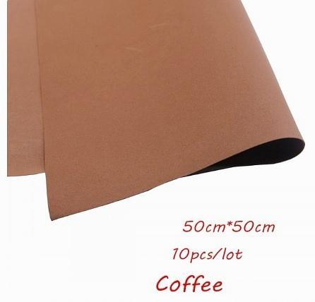 Фото Экокожа  с  глитером ,  и  Фоамиран  гладкий  и  с  глитером ,  Фоамиран  50 * 50 см.   толщина  1 мм.   Коричнево - кофейный.