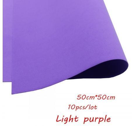 Фото Экокожа  с  глитером ,  и  Фоамиран  гладкий  и  с  глитером ,  Фоамиран  50 * 50 см.   толщина  1 мм.   Лиловый .