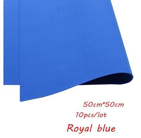Фото Экокожа  с  глитером ,  и  Фоамиран  гладкий  и  с  глитером ,  Фоамиран  50 * 50 см.   толщина  1 мм.  Синий.