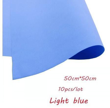 Фото Экокожа  с  глитером ,  и  Фоамиран  гладкий  и  с  глитером ,  Фоамиран  50 * 50 см.   толщина  1 мм.   Голубой .