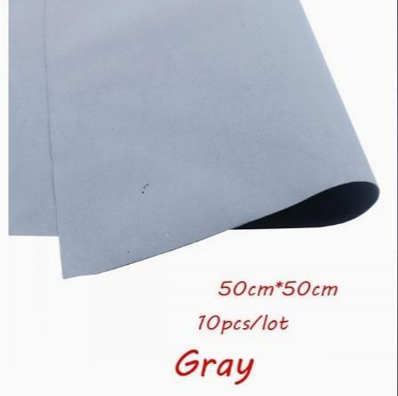 Фото Экокожа  с  глитером ,  и  Фоамиран  гладкий  и  с  глитером ,  Фоамиран  50 * 50 см.   толщина  1 мм.   Серый .