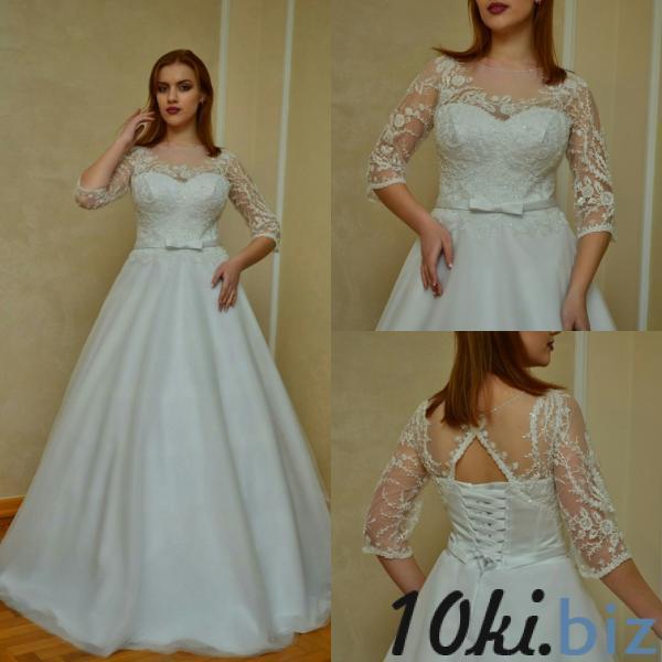 Свадебные платья - Легкое свадебное платье большого размера Августина